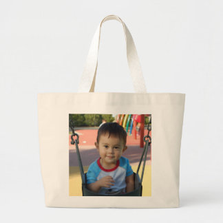 Custom Personalized Photo Large Tote Bag