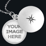 """Custom Personalized Photo Locket Necklace<br><div class=""""desc"""">Customizable,   necklace locket with your photo. Good gift idea for a friend or loved one. Add your own picture or photo to create a personal birthday present or gift,  for mom or girlfriend.</div>"""