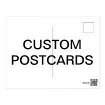 Custom Personalized Photo Postcard Blank Template