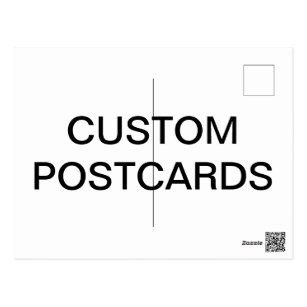 Blank Cards Greeting Photo Cards Zazzle - Custom postcard template