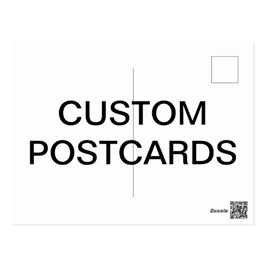 Custom Personalized Photo Postcard Blank Template