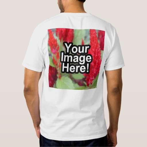 Custom personalized photo printed on back t shirt zazzle for Custom photo t shirts front and back
