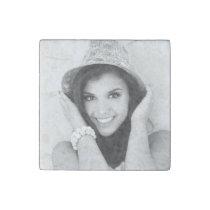 Custom Personalized Photo Stone Magnet