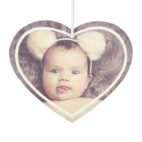 Custom  Personalized Photo With Heart in White Air Freshener