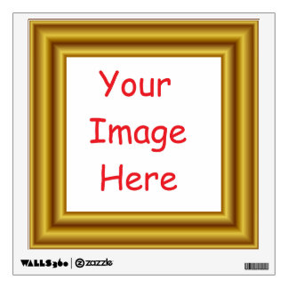 Custom Personalized Picture & Gold Frame Printed Wall Sticker