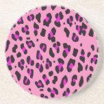 Custom Personalized Pink Leopard Pattern Coaster