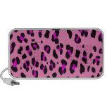 Custom Personalized Pink Leopard Pattern Notebook Speakers