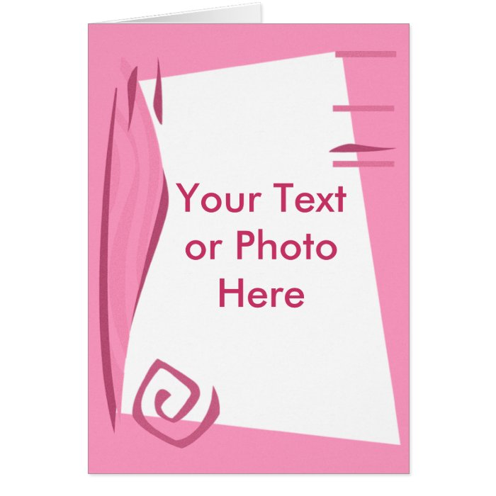Custom Personalized Pink Photo Frame/Border Card