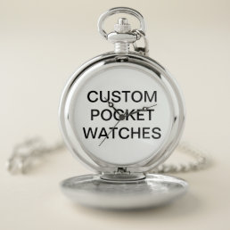 Custom Personalized Pocket Watch Blank Template