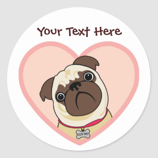 Custom Personalized Puggy Stickers