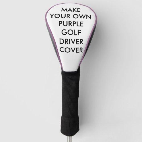 Custom Personalized Purple Golf Driver Club Cover