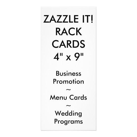 Custom Personalized Rack Card Blank Template Zazzlecom - 4x9 rack card template
