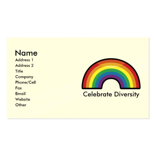 Custom Personalized Rainbow Business Cards (border