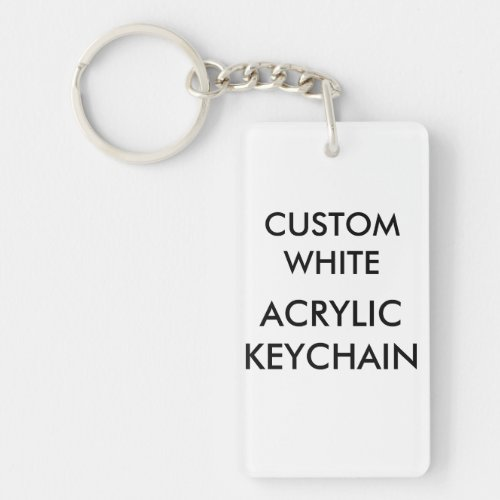 Custom Personalized Rectangular Acrylic Keychain