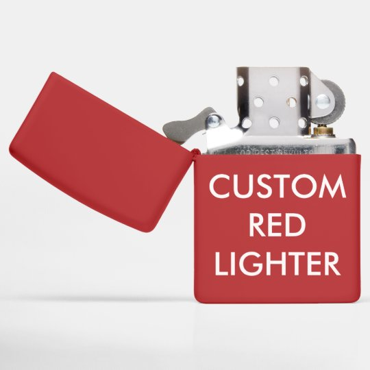 Custom Personalized Red Genuine Zippo Lighter Zazzlecom