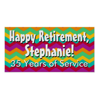 Custom Personalized Retirement Banner Poster