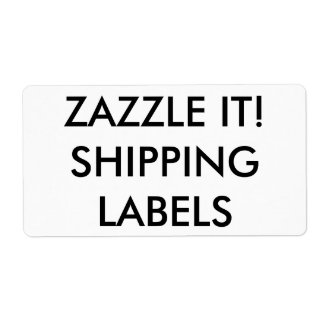Custom Personalized Shipping Labels Blank Template