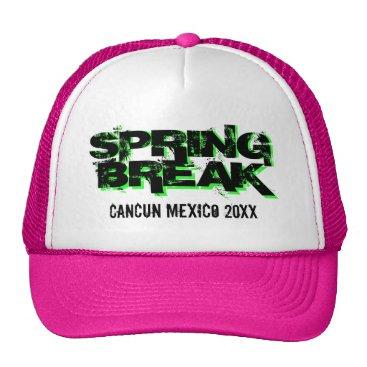 Beach Themed Custom personalized Spring Break party trucker hat