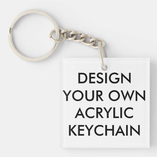 Custom Personalized Square Acrylic Keychain