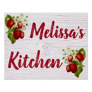 Strawberry Kitchen Decor Zazzle