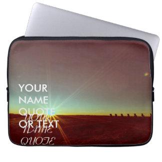 Custom Personalized Sunrise Sundown Design Laptop Sleeve
