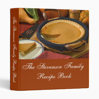 Custom Personalized Thanksgiving Recipe Book 3 Ring Binder