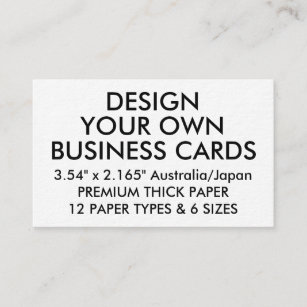 Australia designs business cards templates zazzle custom personalized thick japanese business cards reheart Gallery