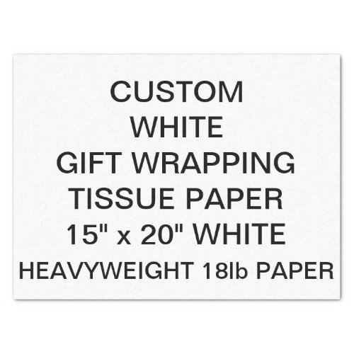 Custom Personalized Thick Tissue Wrapping Paper