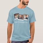 Custom Personalized Three Photo Snapshot Men's T-Shirt