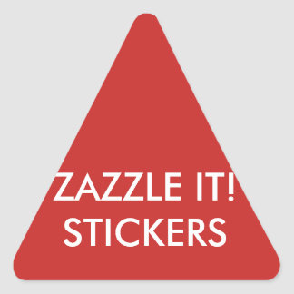 Custom Personalized Triangle Stickers Blank