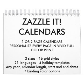 """Custom Personalized Two-Page 5.5"""" x 7"""" Calendar"""
