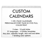 """Custom Personalized Two-Page 8.5"""" x 11"""" Calendar"""