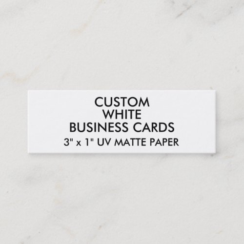 Custom Personalized UV MATTE Slim Business Cards