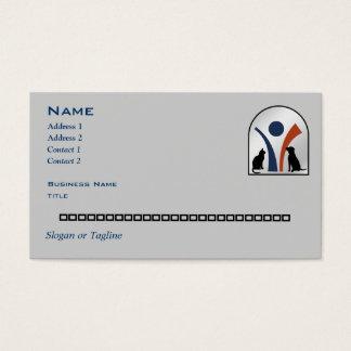 Custom Personalized Veterinary Animal Logo Business Card