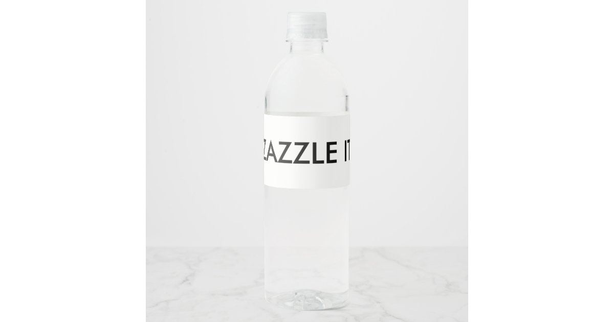 Custom Personalized Water Bottle Label Blank Zazzle Com