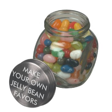 Wedding Themed Custom Personalized Wedding Favors JELLY BEANS Jar Glass Jars