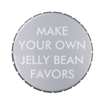 Wedding Themed Custom Personalized Wedding Favors JELLY BEANS Tin Candy Tin