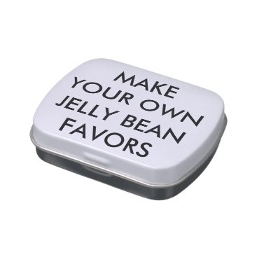 Wedding Themed Custom Personalized Wedding Favors JELLY BEANS Tin Jelly Belly Tin