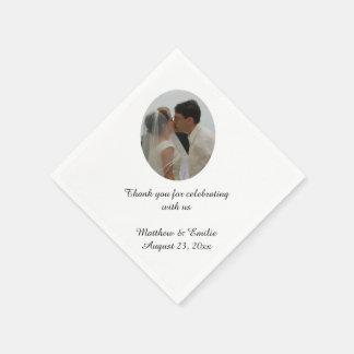 Custom Personalized Wedding Photo Napkins