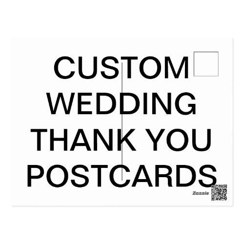 Custom Personalized Wedding Thank You Postcard