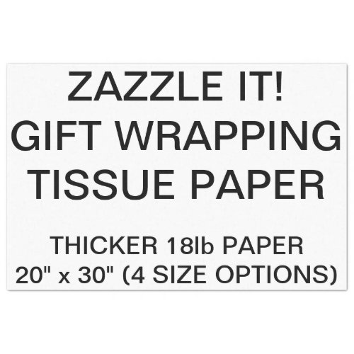 Custom Personalized White Tissue Paper For Gifts