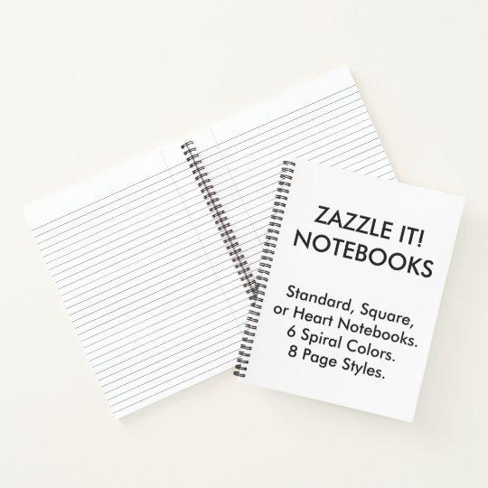 Custom Personalized Wide Ruled Lined Notebook Zazzlecom