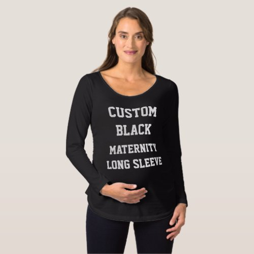 Custom Personalized Womens BLACK MATERNITY T_SHIRT