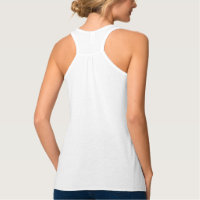 Custom Personalized Womens Flowy Racerback Fashion Tank Top