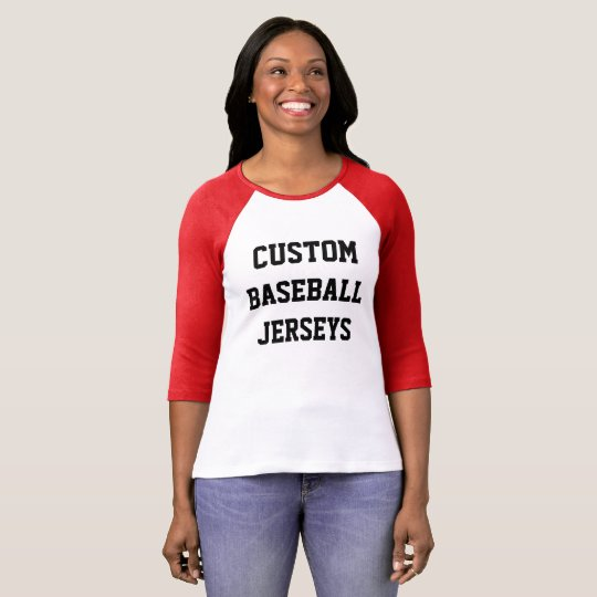 Custom personalized womens raglan baseball jersey t shirt for Custom raglan baseball shirt