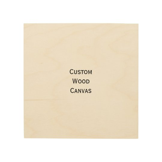 Custom Personalized Wood Wall Art Photo Canvas | Zazzle.com