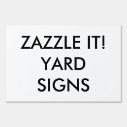 Custom Personalized Yard Sign Blank Template