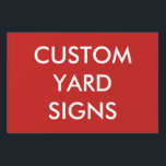 "Custom Personalized Yard Sign Blank Template<br><div class=""desc"">Custom printed personalized LARGE YARD SIGN (RED background example) Blank Template - 24&quot; x 36&quot; x 4mm thick. Design, create, make your own. These quality Yard/Lawn/Bandit signs are stain &amp; weather resistant and lightweight corrugated plastic. Designs, photo, info, text displayed in the highest quality brilliant full color print. ANY COLOR...</div>"