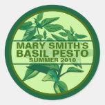 Custom Pesto Labels, Basil Pesto Jarring Labels Stickers