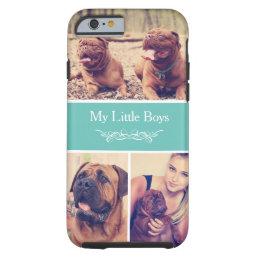 Custom Pet Dog Instagram Photo Collage Tough iPhone 6 Case